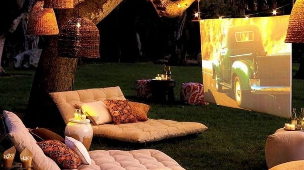 cine al aire libre en casa